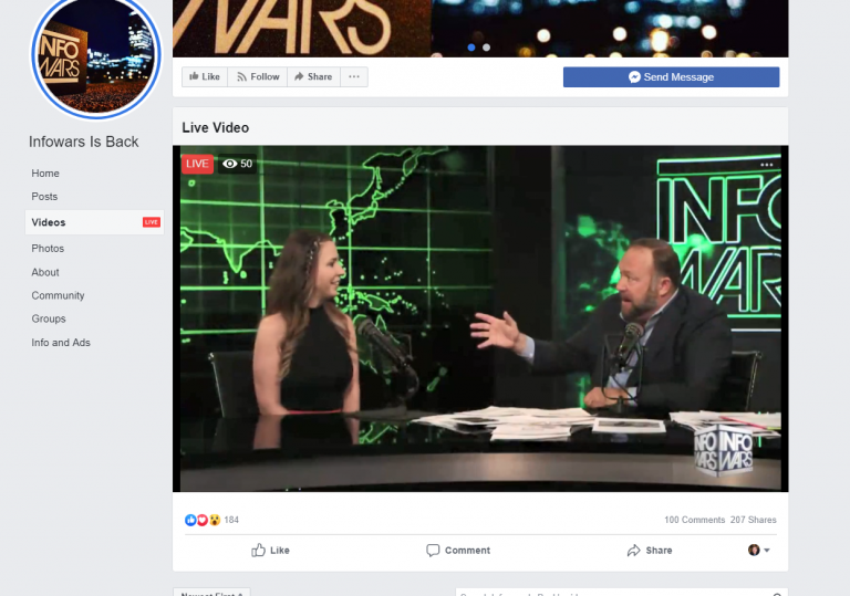 Alex Jones banned from Facebook, but he's already back