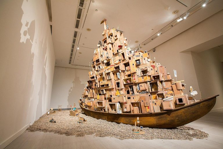 Massive Cardboard Installations by Isabel and Alfredo Aquizilan Investigate Migration and Community