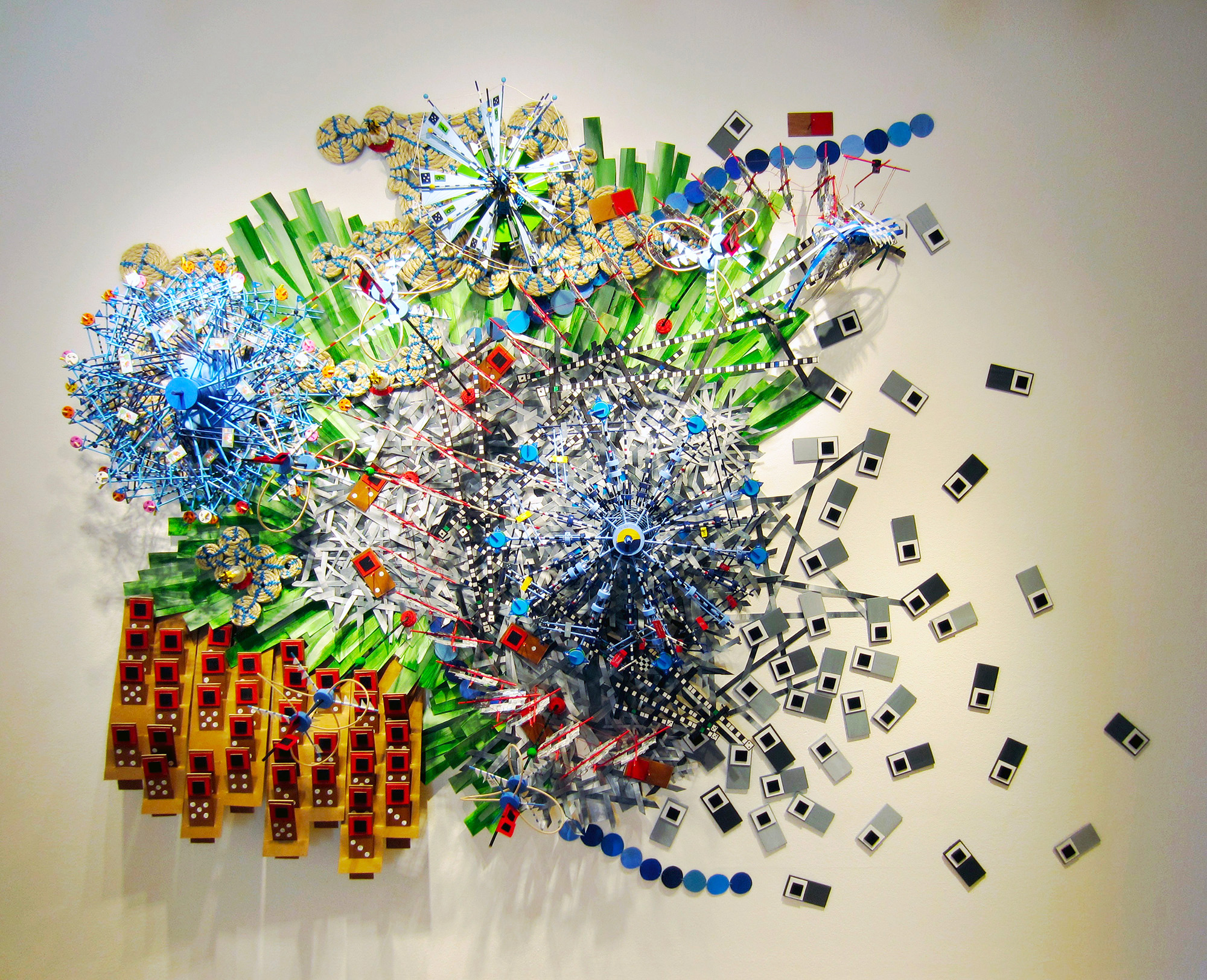 Meteorological Data Visualized as Mixed Media Sculptures by Nathalie Miebach
