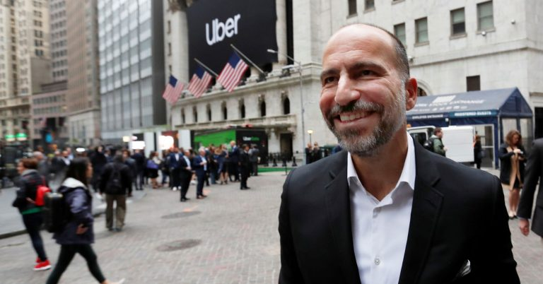 Uber CEO says he's building the next Amazon, though growth is slowing