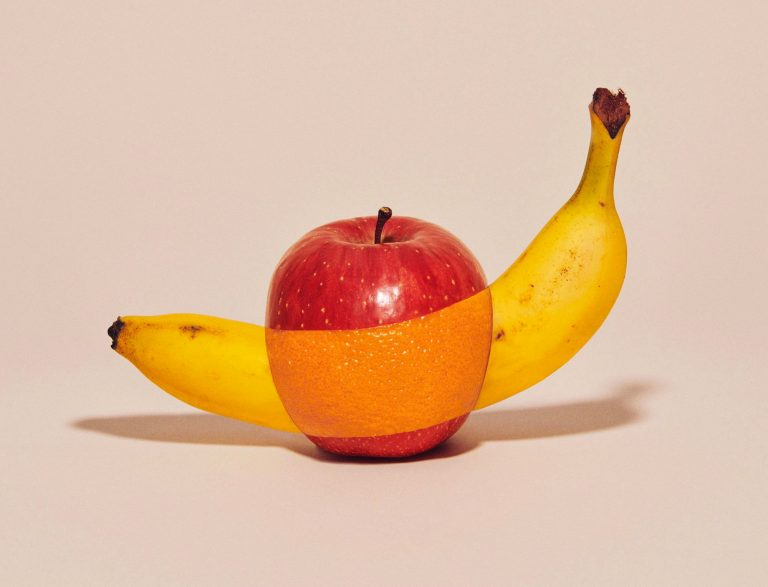 Apples and Oranges Come Together Photographs of Spliced Fruits by Yuni Yoshida