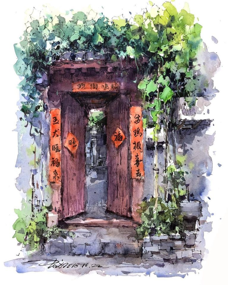 Corner Shops and Cathedrals Get Equal Attention in Zhifang Shi's Travel Watercolors