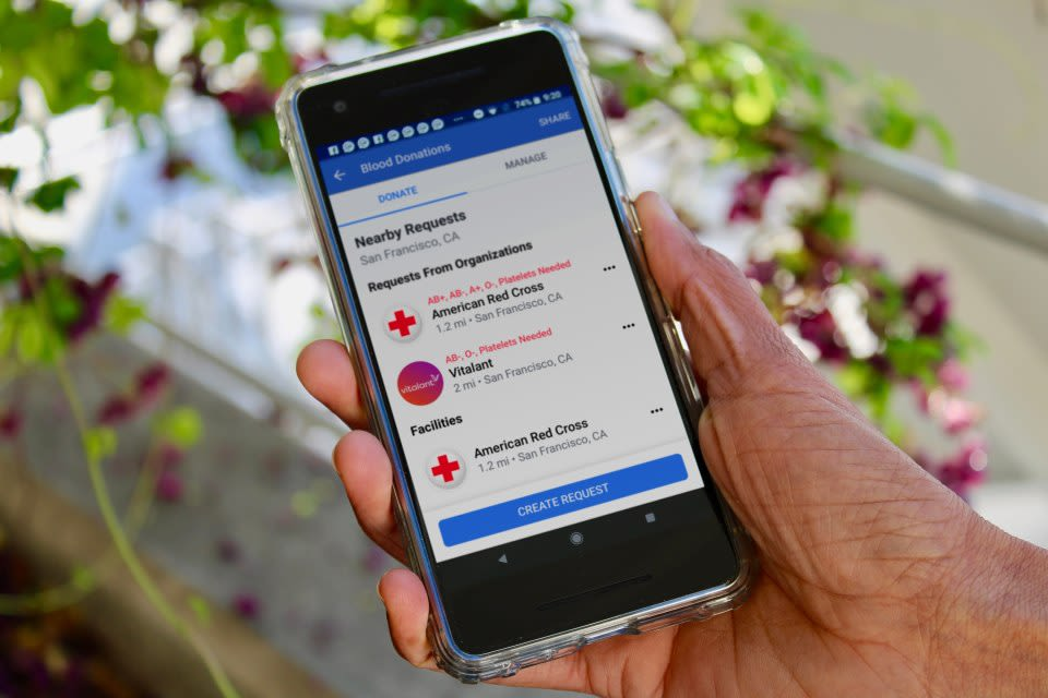 Facebook tool helps you donate blood, here's how to use it