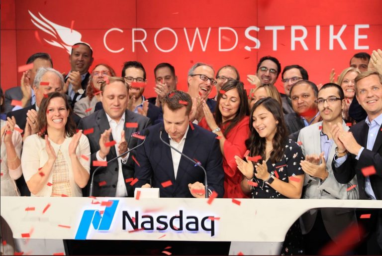 CrowdStrike IPO at the Nasdaq exchange June 12, 2019.