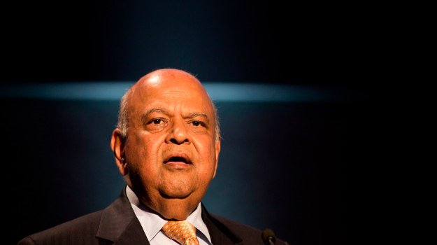 Pravin Gordhan speaks during a conference at the D