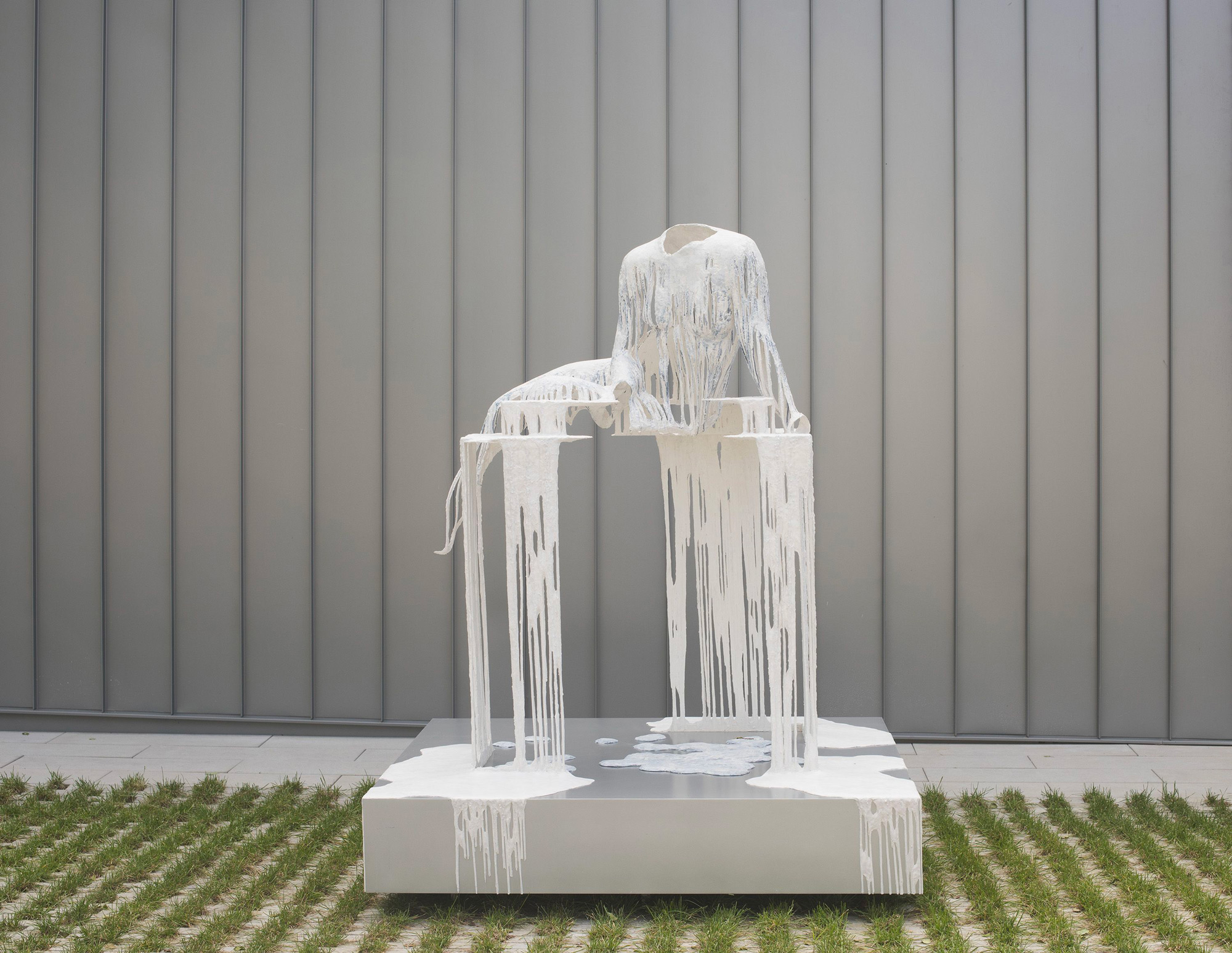 Ghostly Figures Occupy Sculptures of Architectural Ruin by Diana Al-Hadid