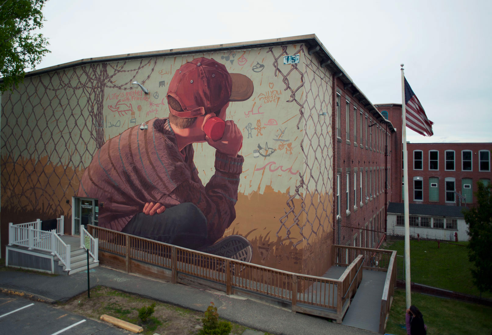 Two Collaborative Murals by Pat Perry and Local Schoolchildren Connect Communities in Iraq and Maine