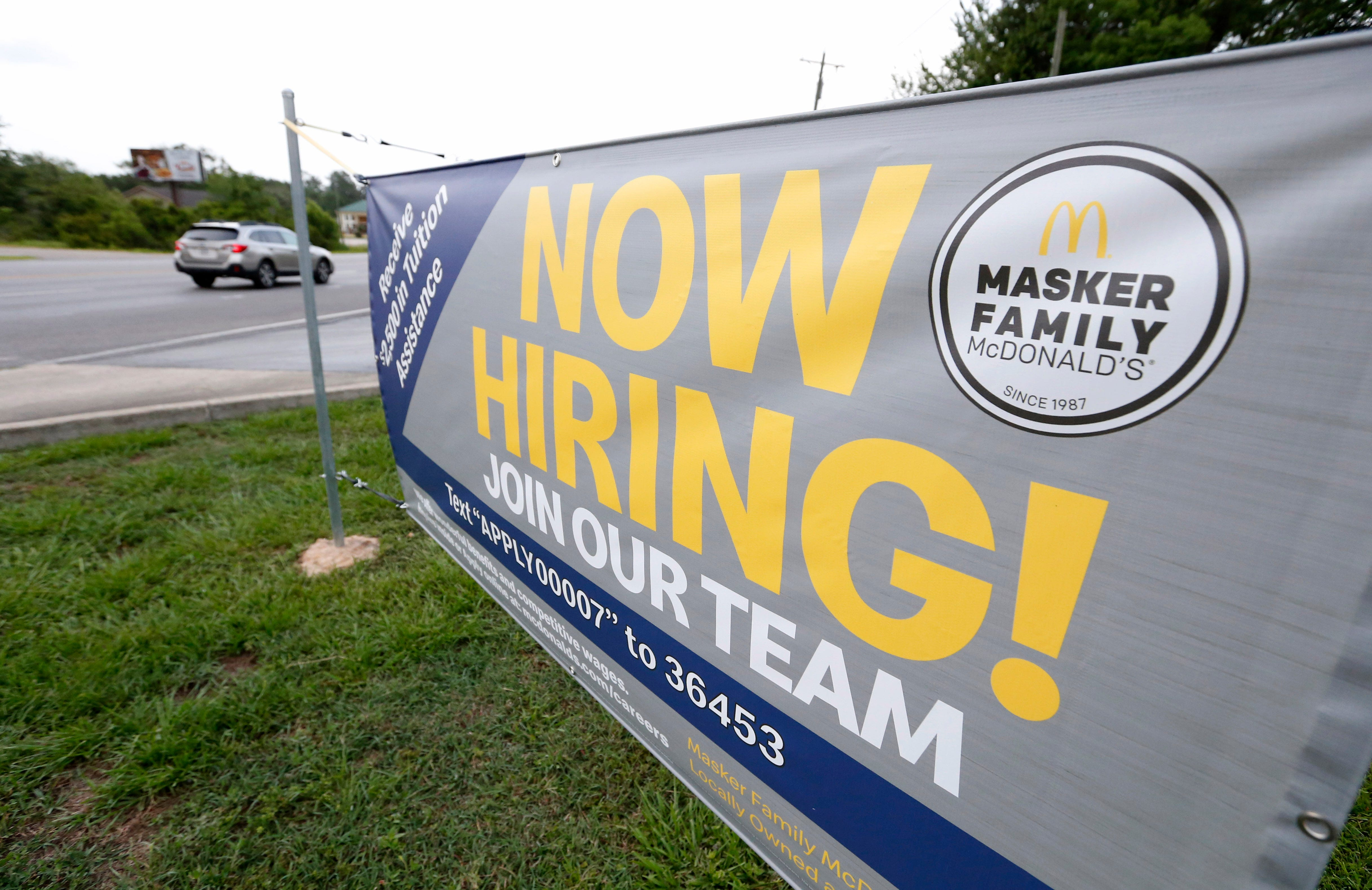 Employers added solid164,000 positions in July