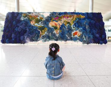 A 20 Foot-Wide Tapestry by Vanessa Barragão Recreates the World in Textural Yarn