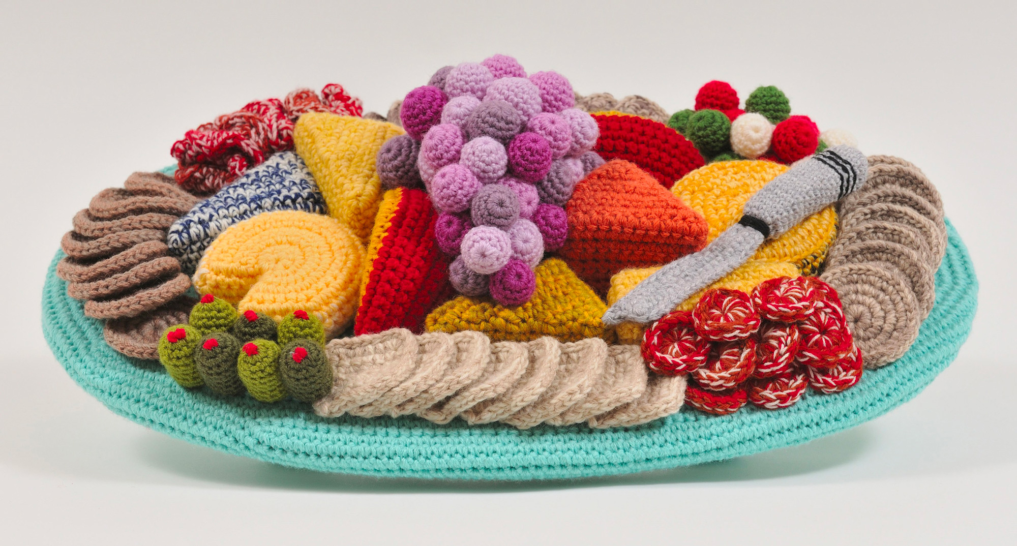 Crocheted Hams and Hairdryers by Trevor Smith Evoke Memories of Mid-Century Domesticity