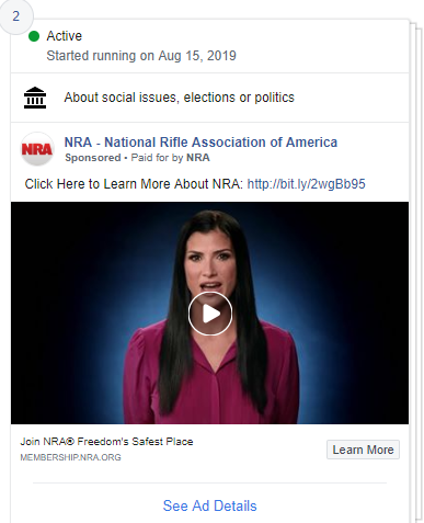 NRA advertises with footage of Dana Loesch despite cutting ties