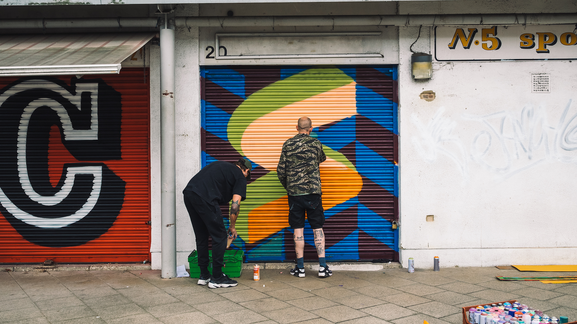 The Full English Alphabet Painted on Store Shutters in 26 Different Fonts by Ben Eine