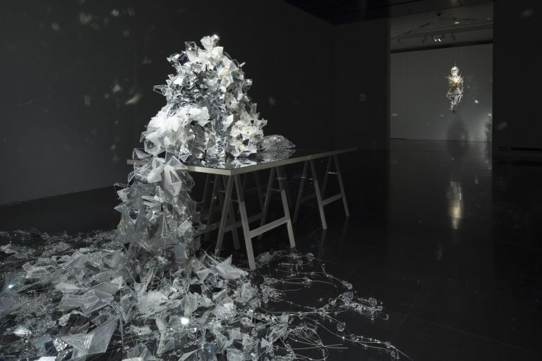 Thousands of Miniature Mirrors Dazzle and Refract in Multi-Media Sculptures by Lee Bul