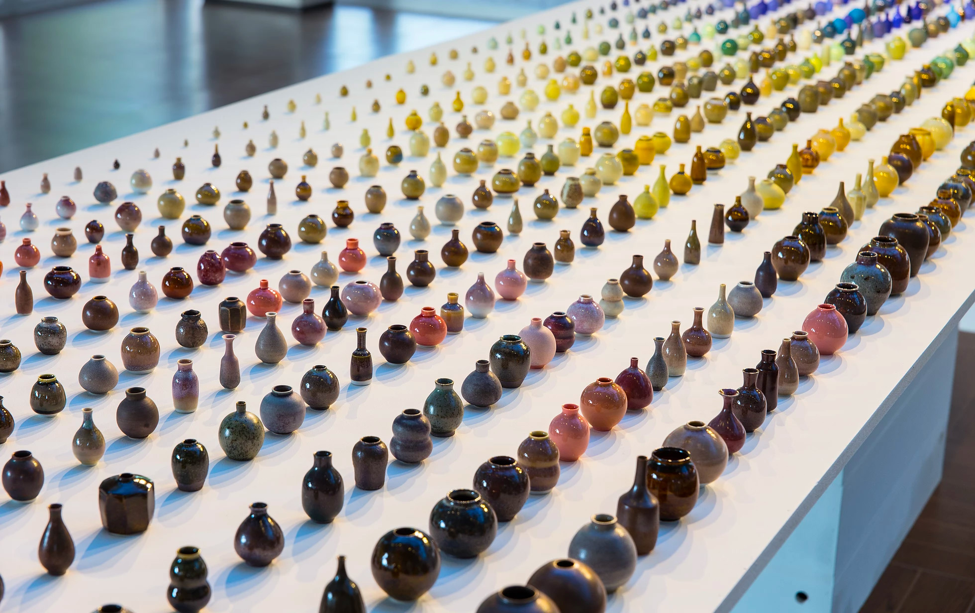 Thousands of Miniature Vases in a Rainbow of Glazes by Ceramic Artist Yuta Segawa