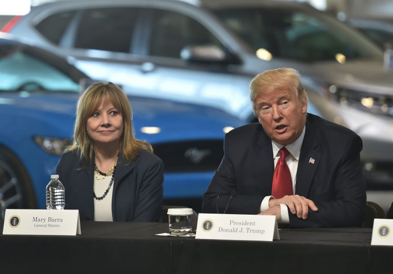 GM CEO Barra, Trump silent on topics of their meeting