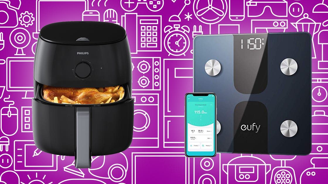 Get great prices on air fryers, curling irons, and smart scales this weekend