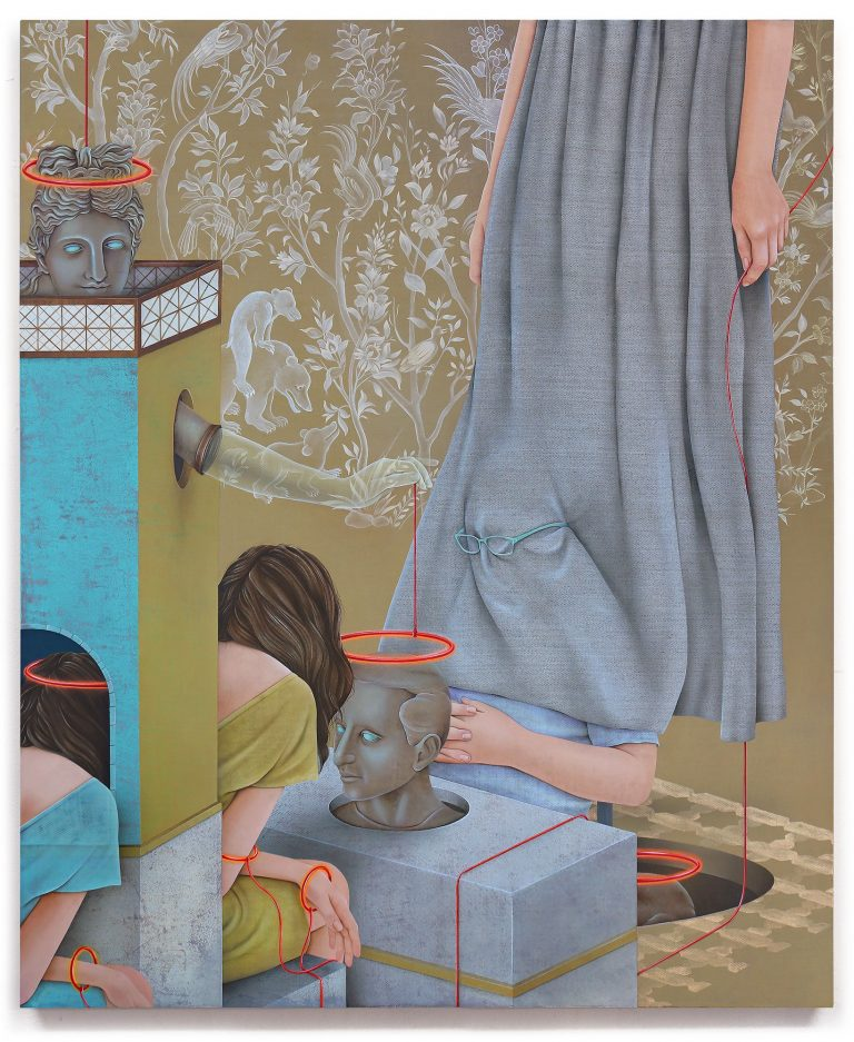 Meditative Mixed-Media Paintings by Arghavan Khosravi Subtly Address Human Rights Issues