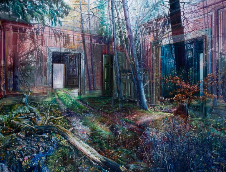 Multi-Layered Oil Paintings by Jacob Brostrup Blur Natural and Built Environments