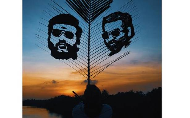 Artists from Kerala use leaves from trees as canvas
