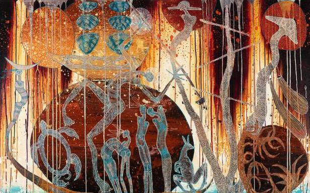 Australian indigenous art that questions colonial history is on focus in this online exhibit