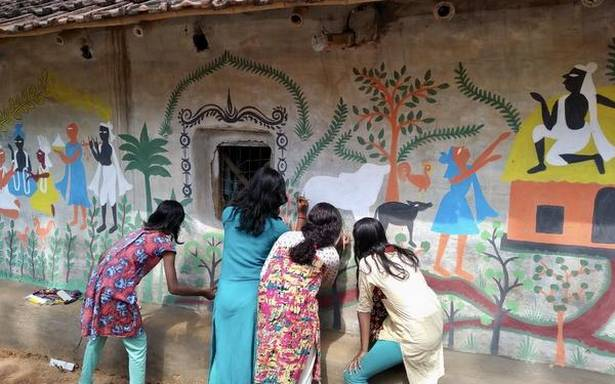 Lalbazar in West Bengal is now art hub, thanks to artist Mrinal Mandal