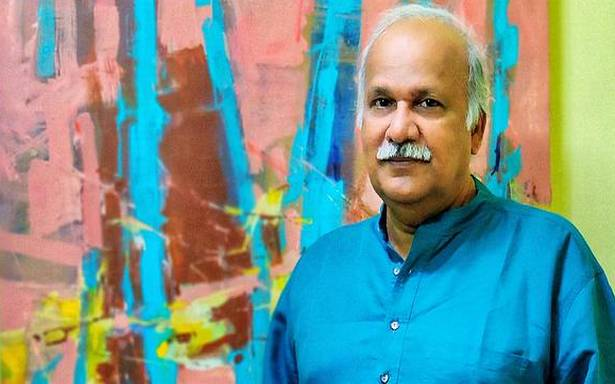 "Murali Sivaramakrishnan goes on ""an inward journey"" with his paintings"