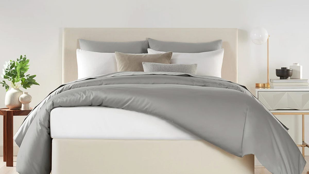 Luxury bedding is discounted big-time at Standard Textile Home right now