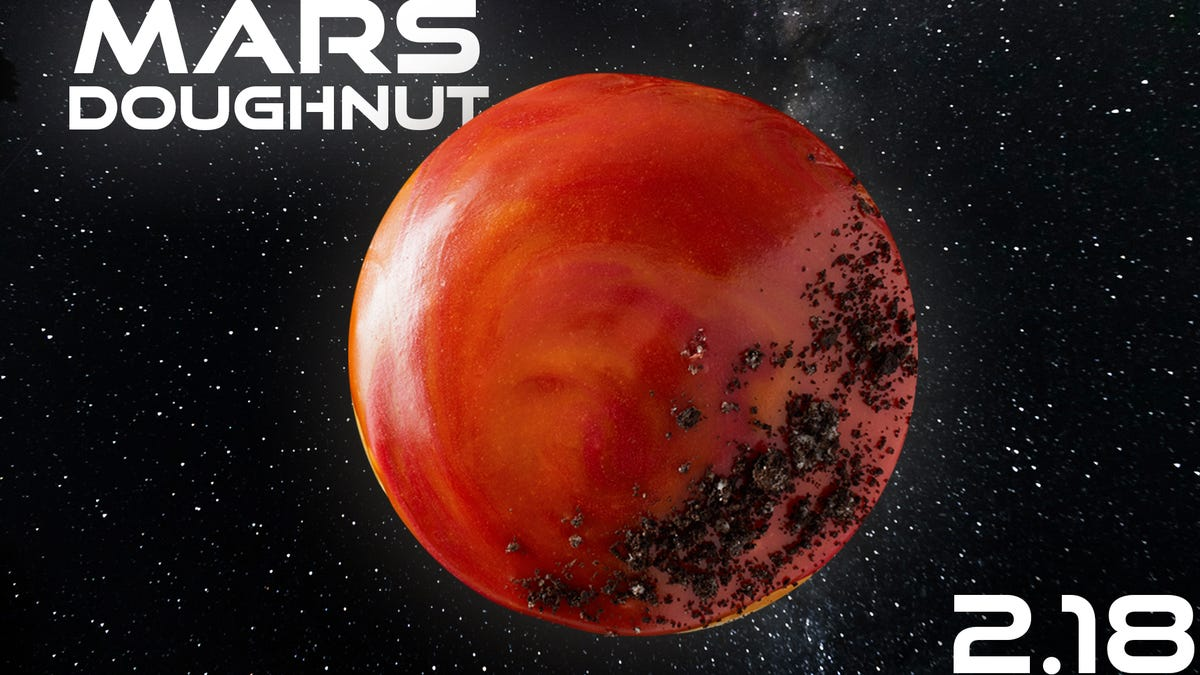 Krispy Kreme launches Mars Doughnut Thursday in honor of NASA Perseverance Rover's Martian landing