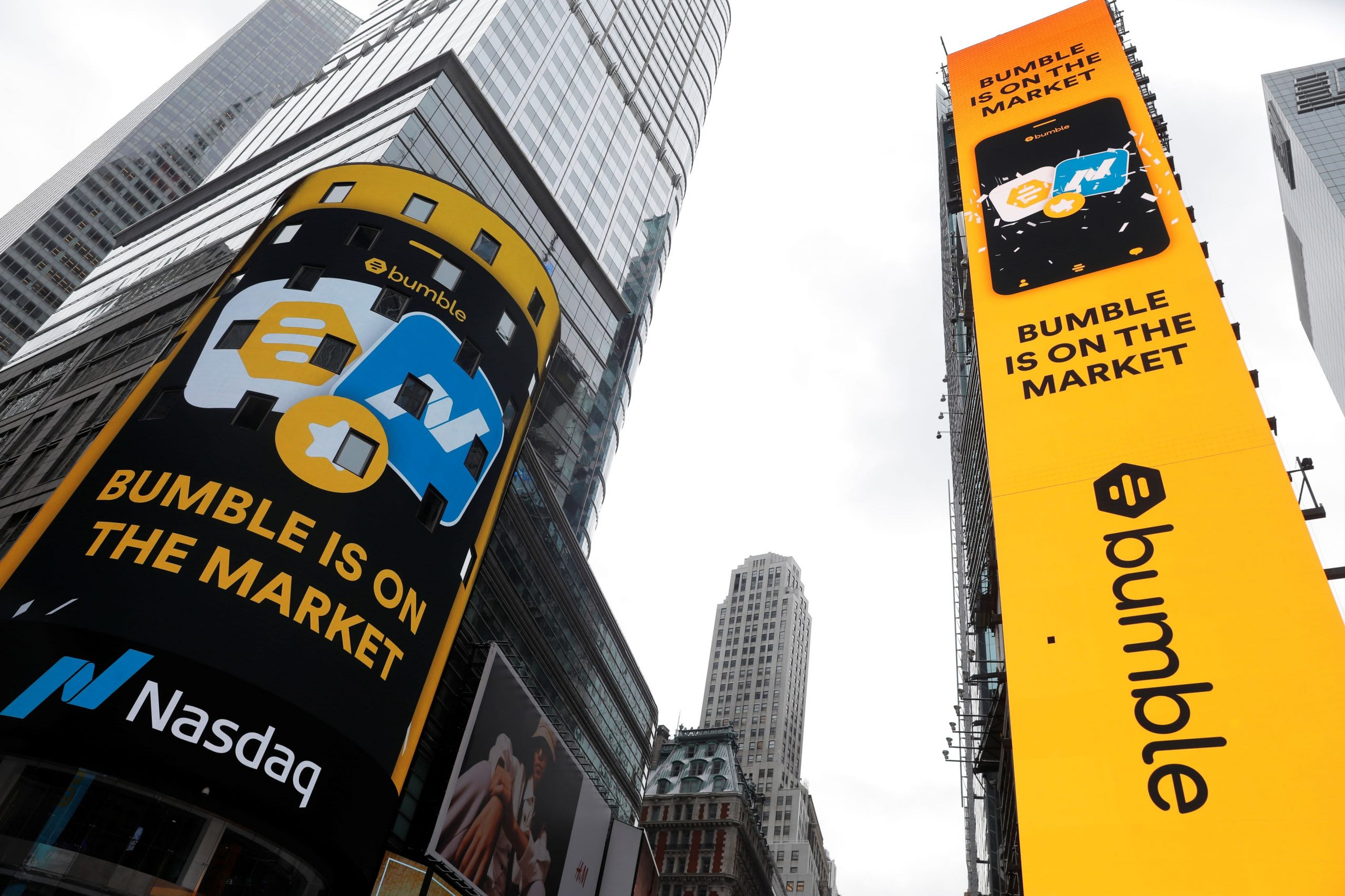 Bumble stock closes up 63% after soaring in market debut