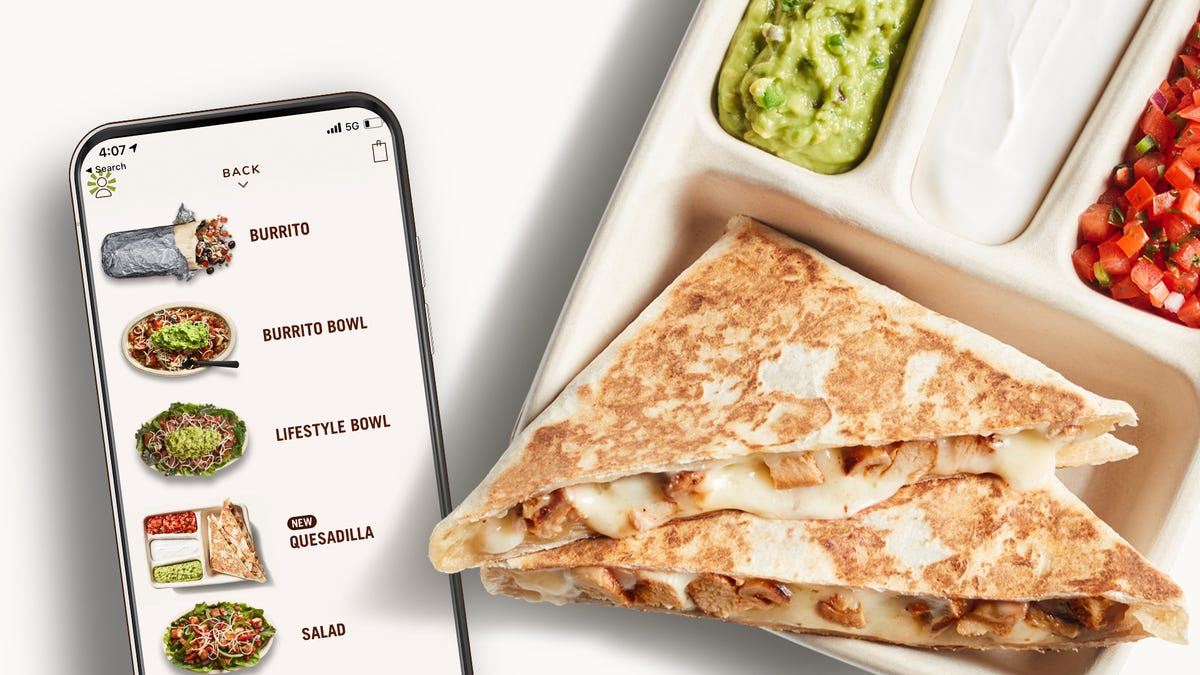 Chipotle to launch the Quesadilla asu00a0its first customizable digital-only menu item