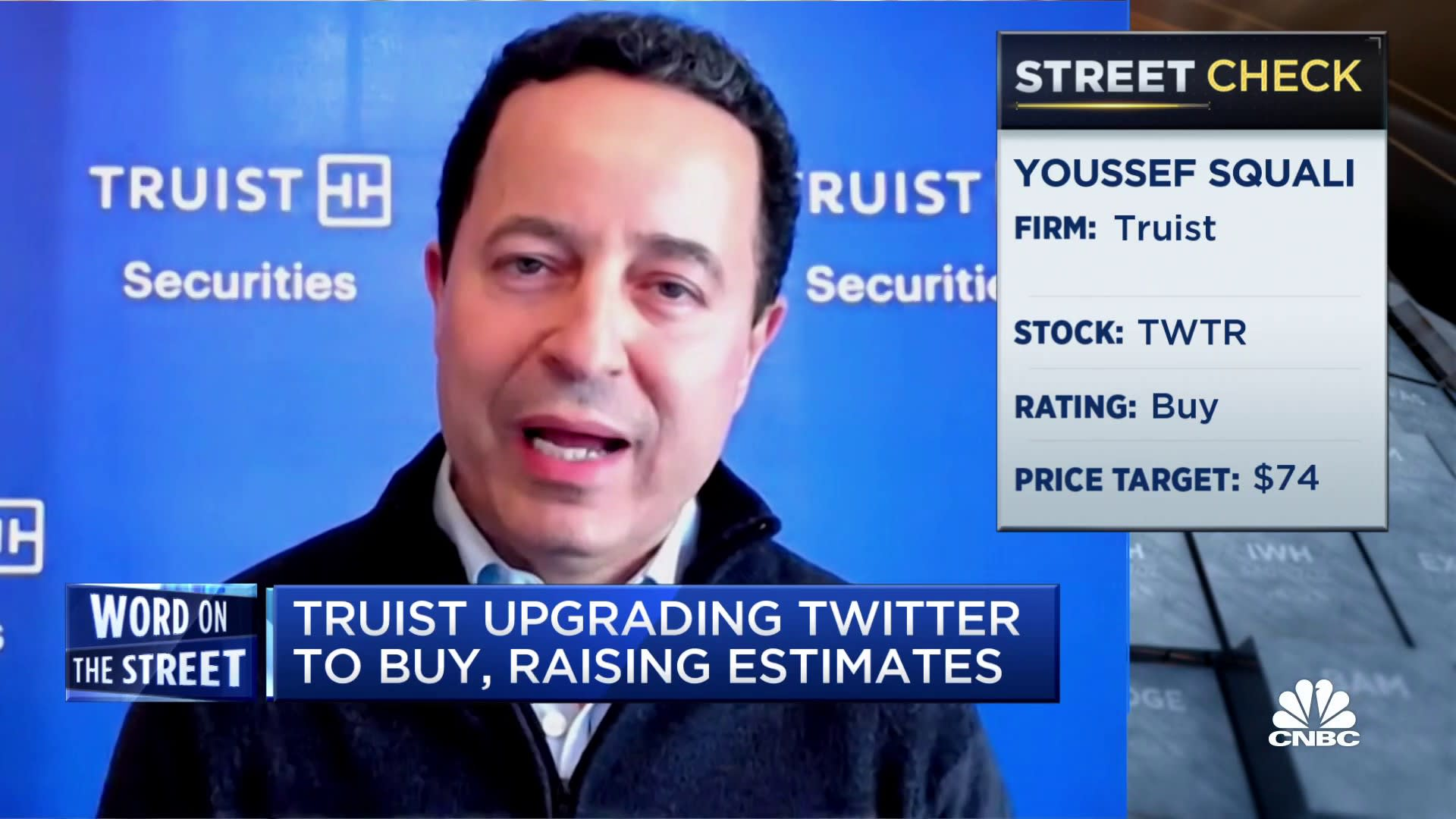 Truist analyst on why he is upgrading his Twitter price target