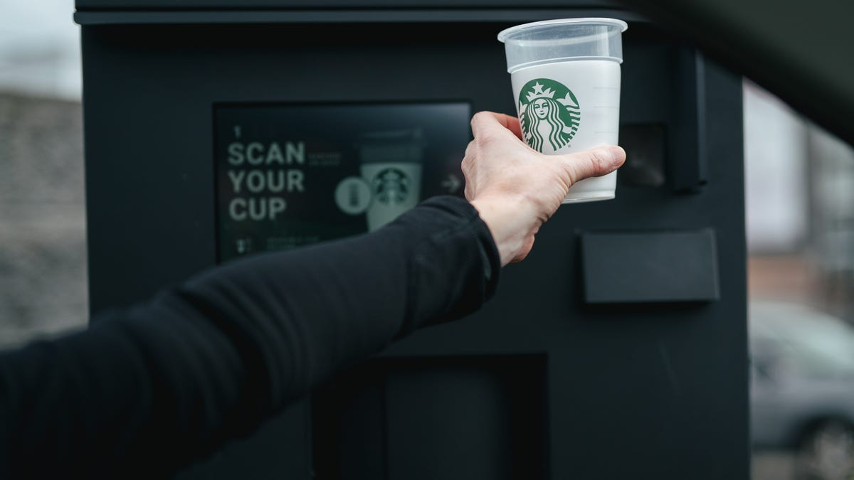 Starbucks launches 'Borrow A Cup' trial with reusable cups for Earth Month. Here's how it works