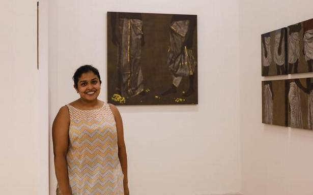 Artist Devi Seetharam's series of paintings at 'Lokame Tharavadu' portrays a stark picture of patriarchy