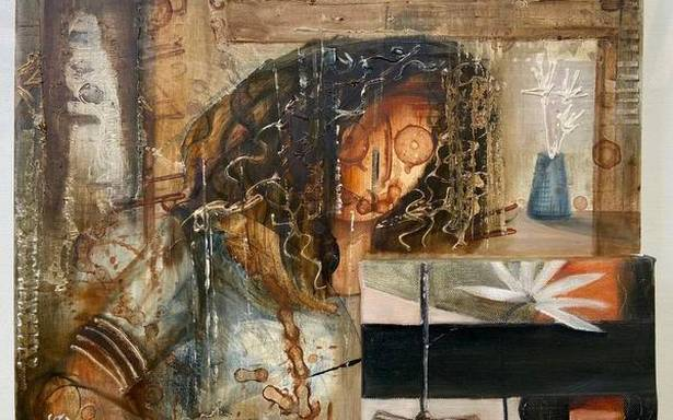 Artist converts online class experience into intriguing paintings