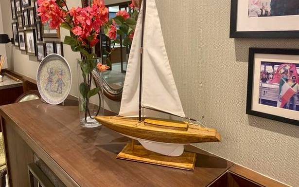 Coimbatore-based school teacher builds miniature models of a Naval ship, sailing boats