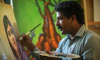 Artist gives longer life to oil paintings