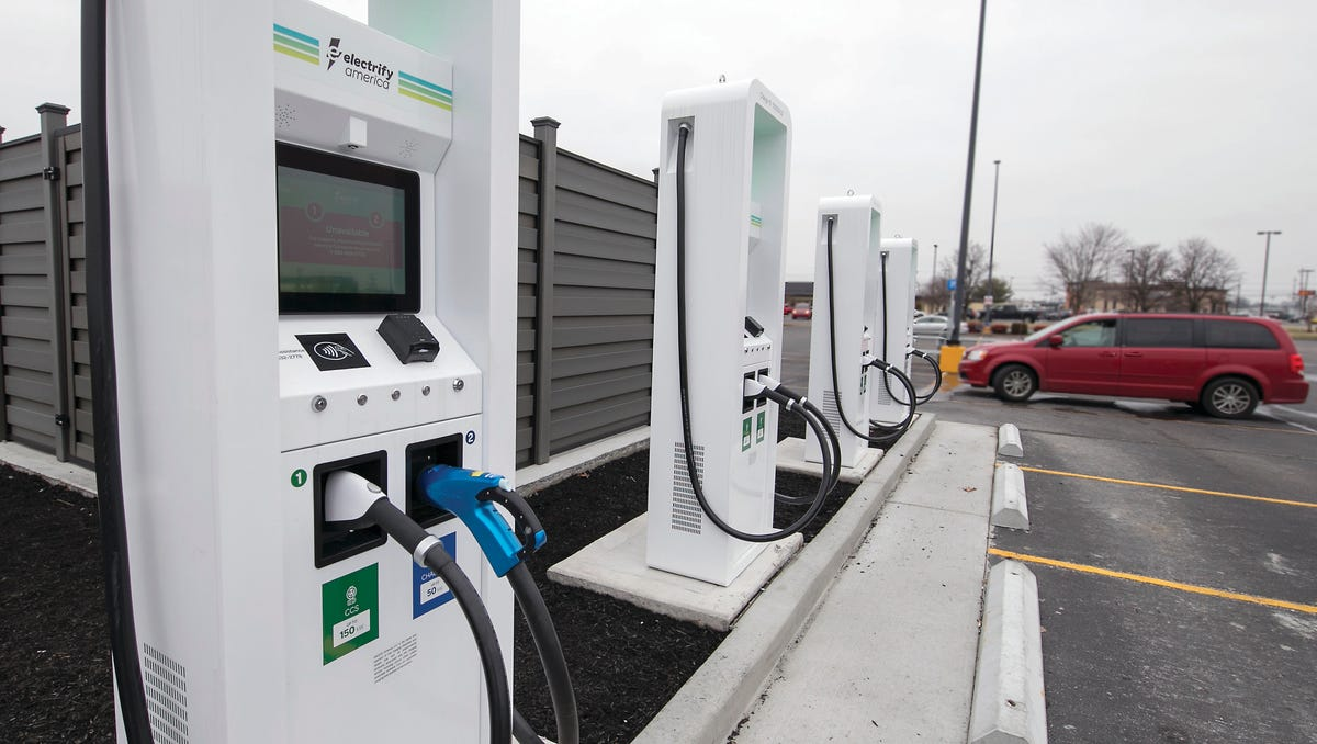 Electric vehicle charging company Electrify America to double number of EV chargers