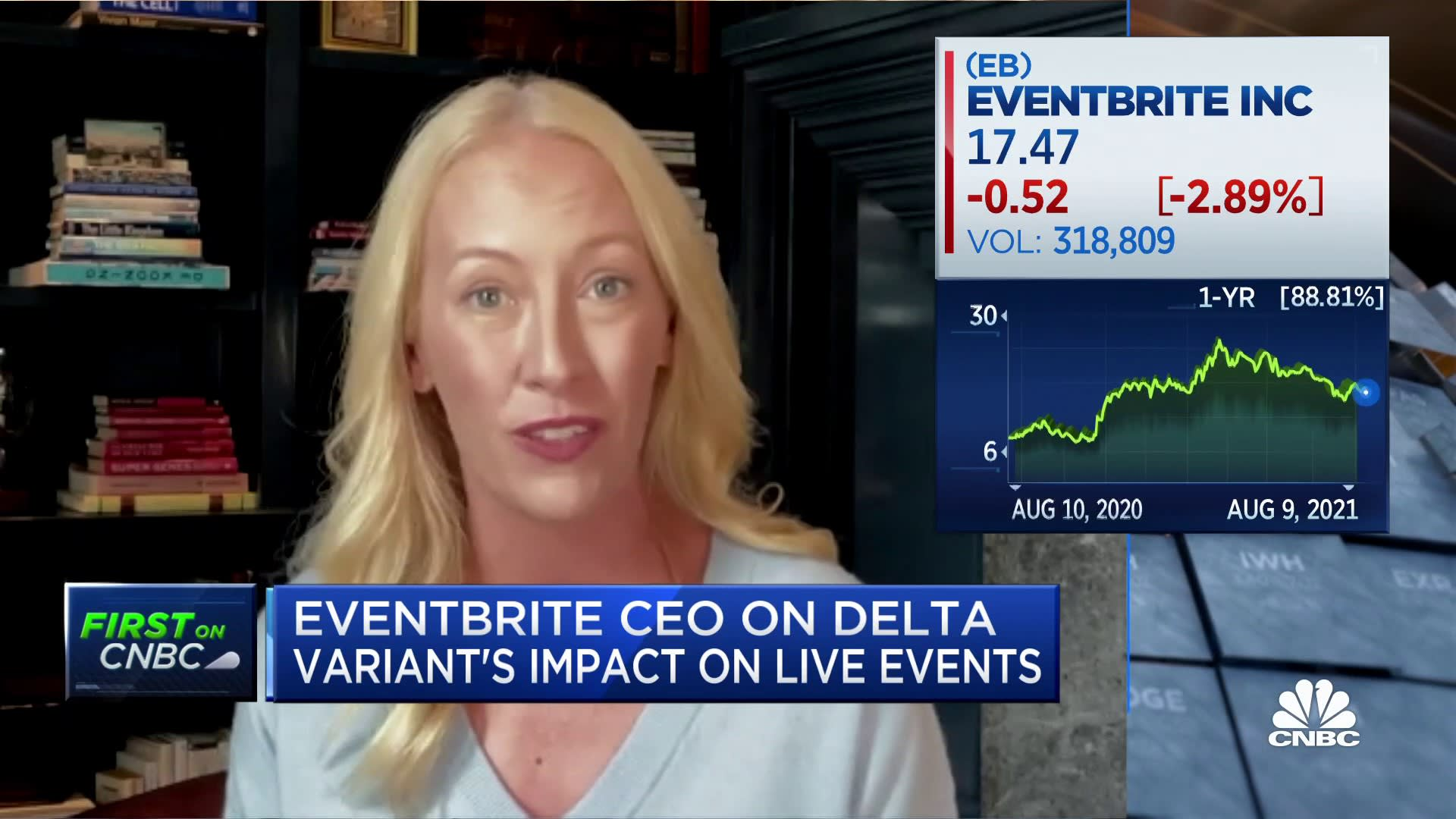 Online events saw 'huge boom' during Covid, says Eventbrite CEO